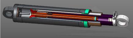 Cilindro telescópico hidráulico