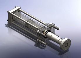 Cilindro hidráulico vazado